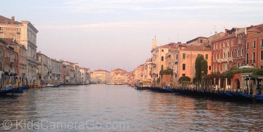 On the Grand Canal in Early Morning Venice Without Crowds