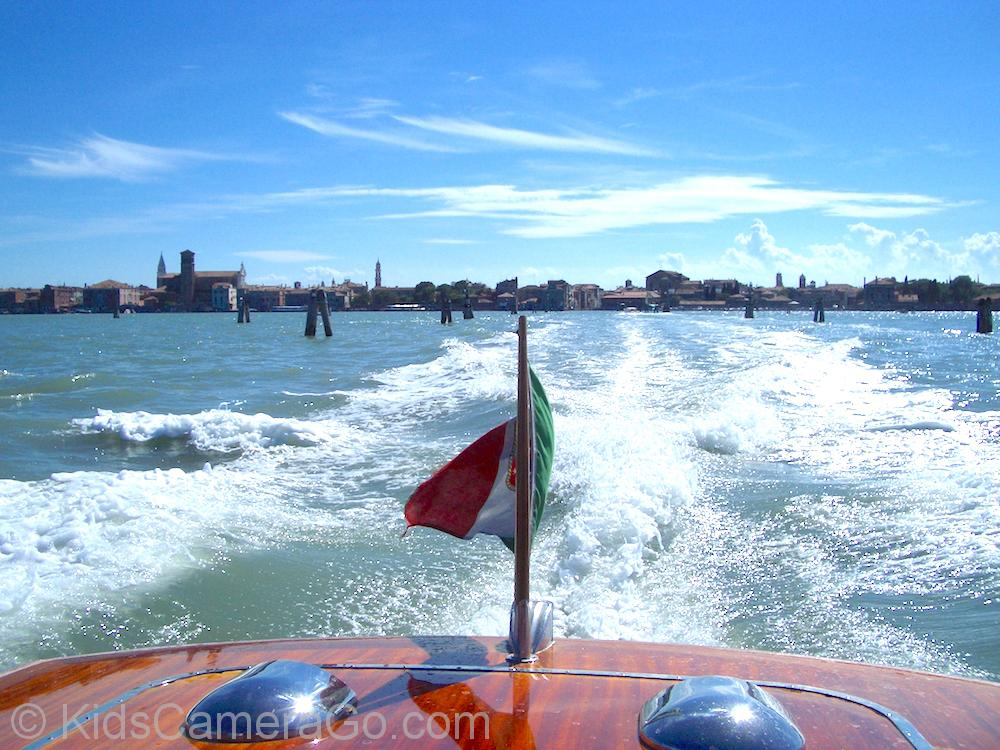 Arriving by private water taxi in Venice